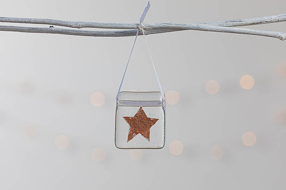 Copper glass star