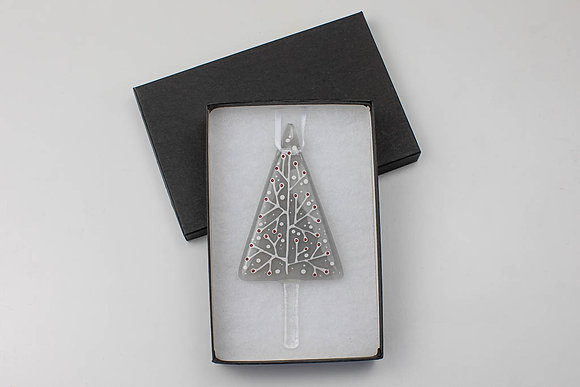 The Aspen- Christmas decoration - Grey and Red