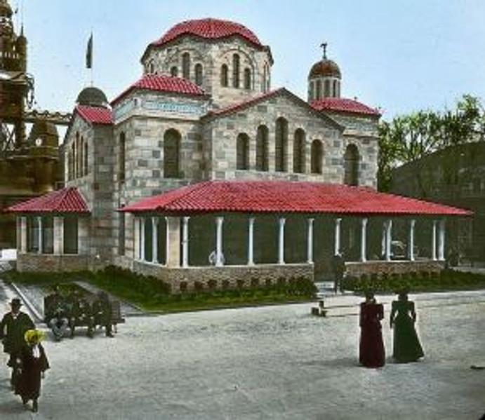 The Greek pavilion Photograph by Joseph Hawkes.