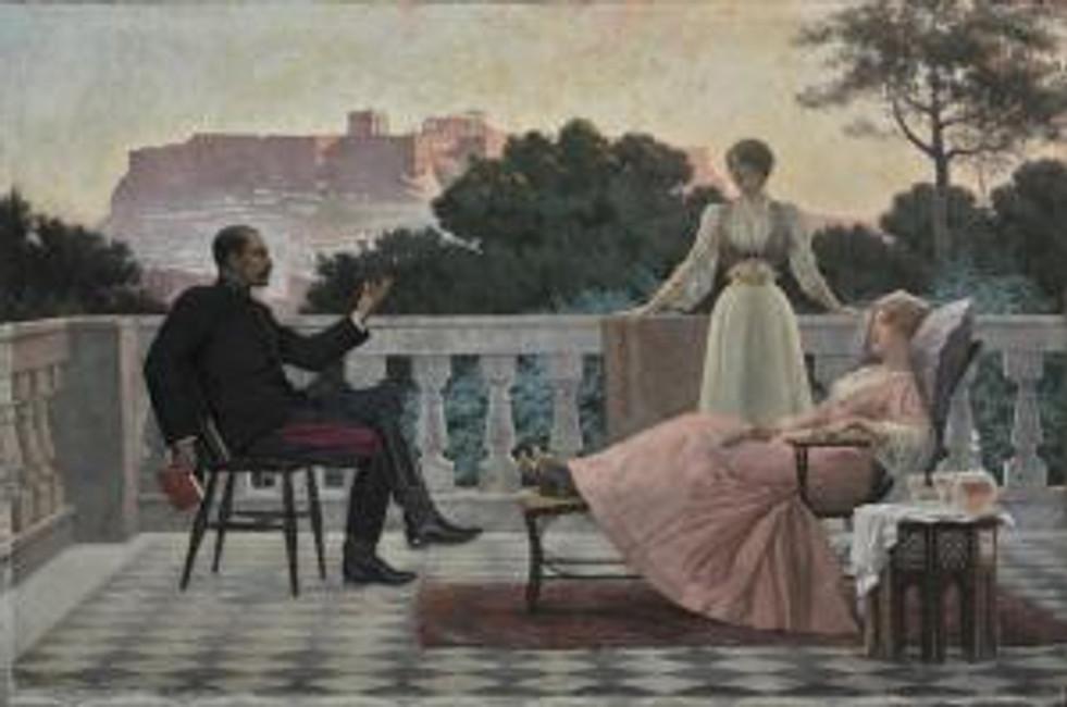 Iacovos Rizos, Soirée Athénienne 1897, © The National Art Gallery.