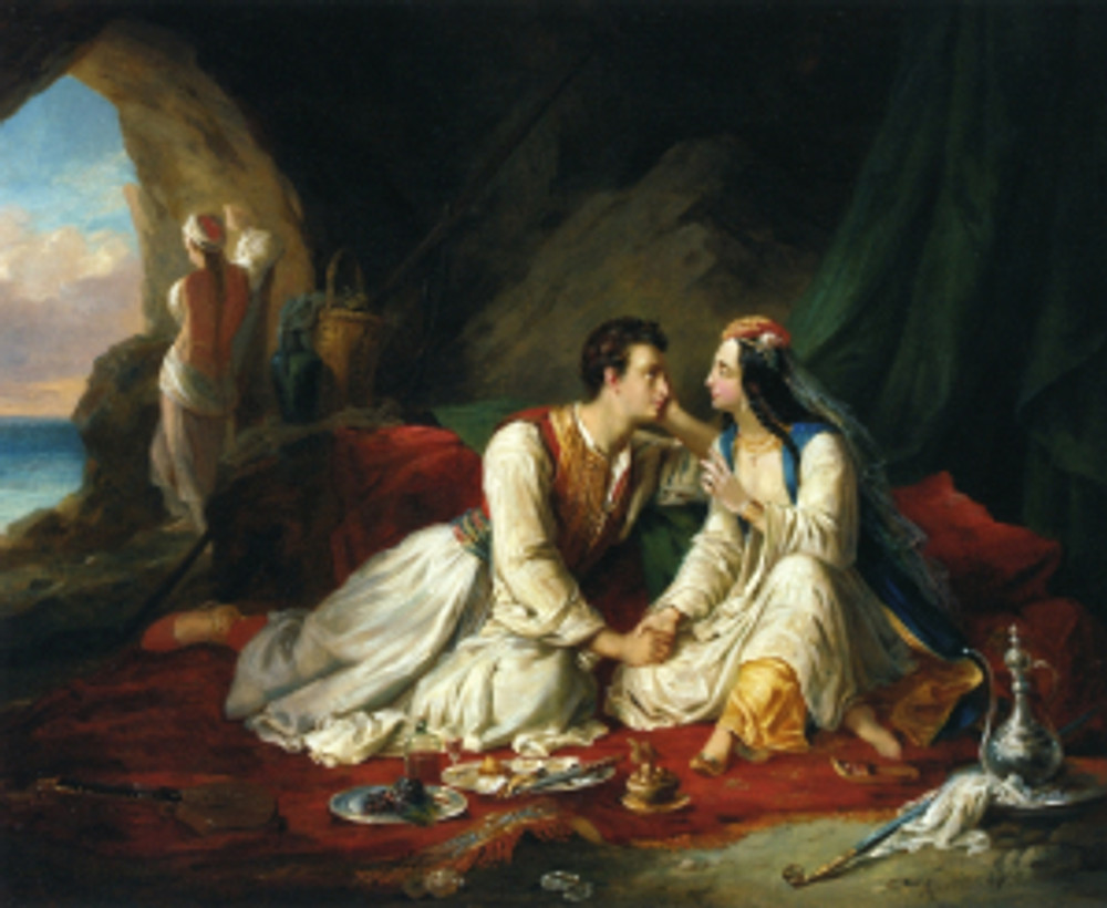Alexandre-Marie Colin, Byron as Don Juan, 1831. Private collection