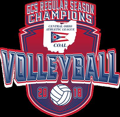 2018 COAL Championship Volleyball Logo 1