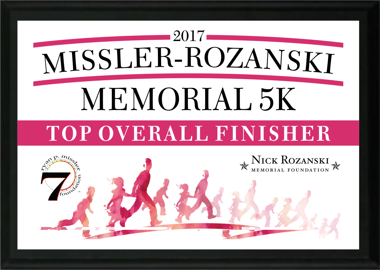 Sublimation Sample Memorial 5K Plaque