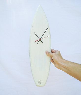White Surfboard Clock