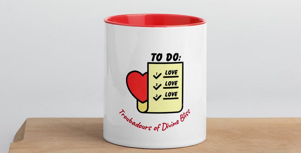 to Do Love Mug with Color Inside