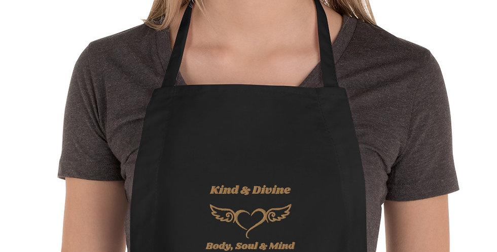 Kind & Divine Body, Soul & Mind Embroidered Apron