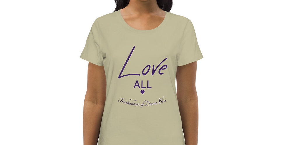 LOVE ALL Women's fitted eco tee