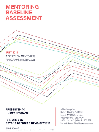 Cover from a designed report (confidential)