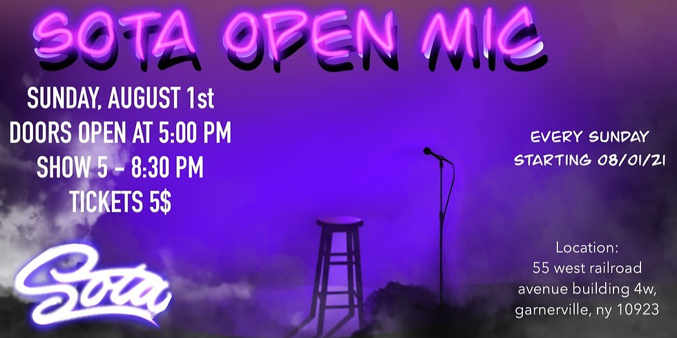 Open Mic with The Society Of The Arts