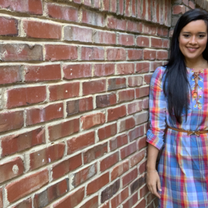 Spring Plaid Dress  |  McCall's 7391 Sewing Pattern Review