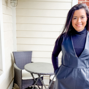 Seamwork Dani in Black Pleather Sewing Pattern Review