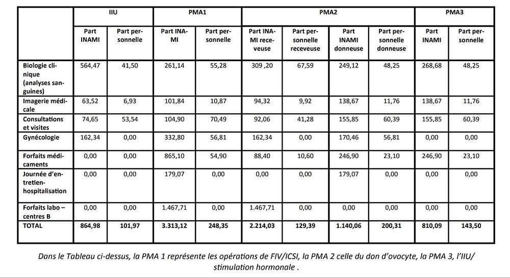 Combien coûte la PMA en Belgique?