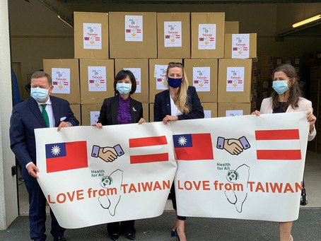Austria thanks Taiwan for donating 300,000 surgical masks