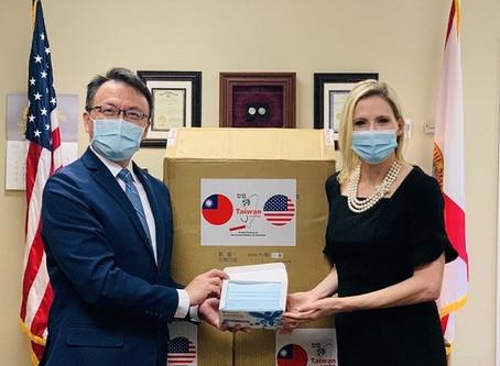 Taiwan donates PPE to Florida, Arkansas amid uptick in coronavirus cases