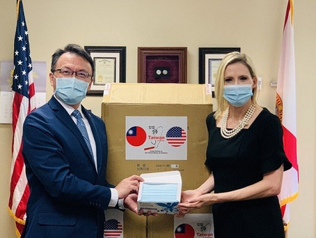 Taiwan donates PPE to Florida, Arkansas amid uptick in coronavirus cases