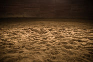 Sandy Horse Riding Arena with Light Spot