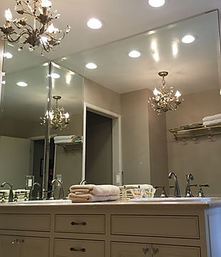 custom mirrors, mirror installers, glass shop, beveled mirror