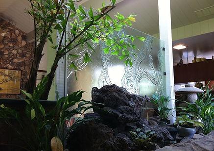 cast glass, glass shelves, stainless steel, starphire, glass, frameless, mceachron glass, custom, lodi, sutter creek,