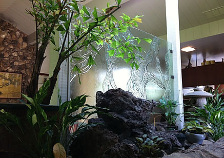 cast glass, glass shelves, stainless steel, starphire, glass, frameless, mceachron glass, custom, lodi, sutter creek,
