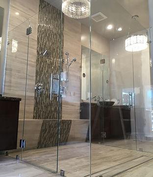 frameless shower, seamless shower, shower door, shower enclosures, shower glass, shower installers, how to install shower doors
