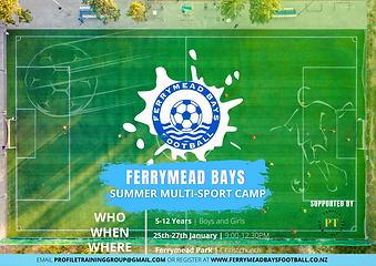 Ferrymead Bays FC Holiday Program Flyer