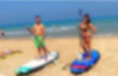 couple on paddle boards - birthdy surprise