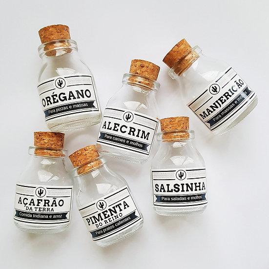 Kit de vidros para tempero SAL
