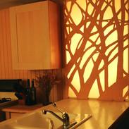 Kitchen space divider screen