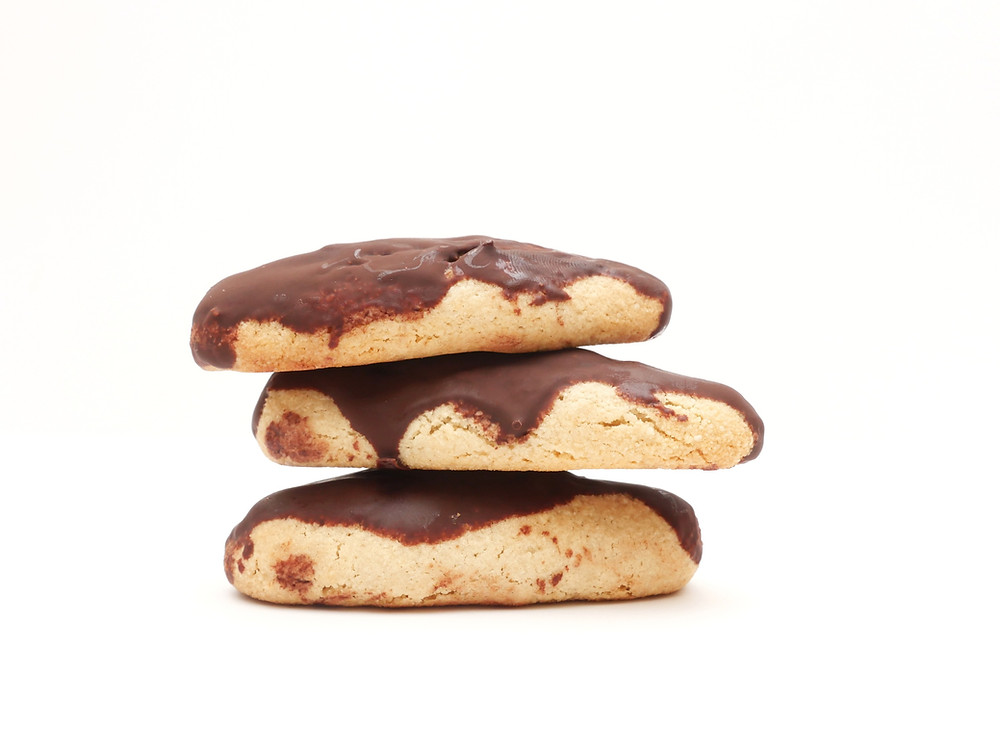 CHOCOLATE COVERED ALMOND COOKIES VEGAN DAIRY FREE OIL FREE SUGAR FREE KOSHER FOR PASSOVER