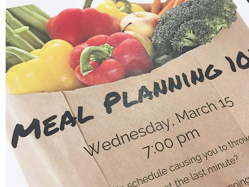 Free Community Resource: Meal Planning