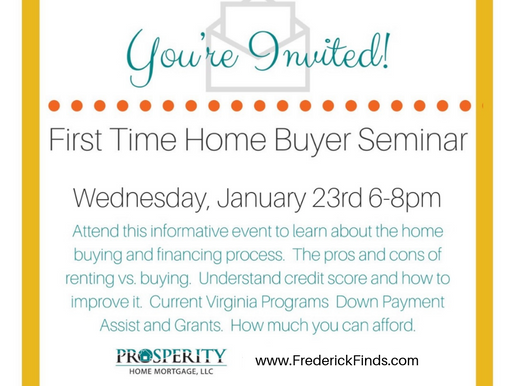 First Time Home Buyer Seminar! Get Educated on Your Options