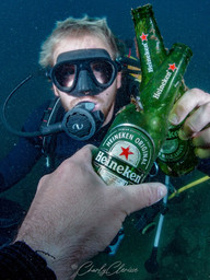 Nice shot by my friend Charlie to celebrate our first reef clean!