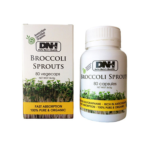 DNH Broccoli Sprout Powder: 80 vegecaps