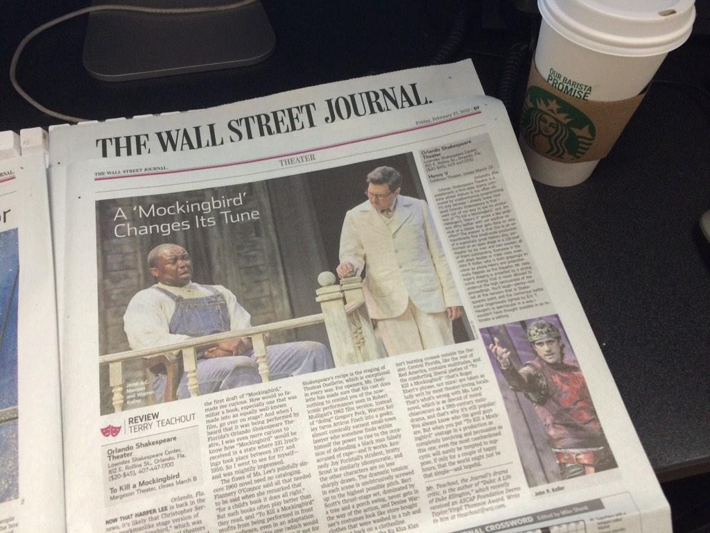In the Wall Street Journal -To Kill a Mockingbird at Orlando Shakespeare Theatre