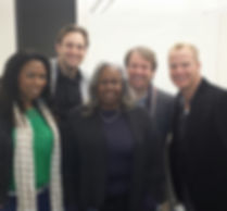 Sharon Robinson, daughter of Jackie Robinson with cast of Jackie & Me