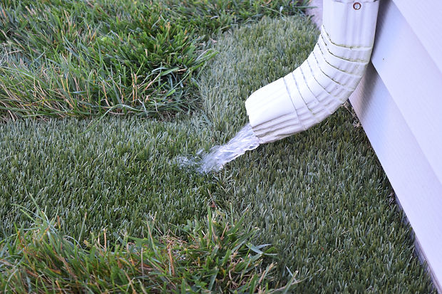 Downspout Grass Pad