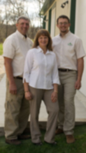 The owners of Trim Free Boders: Eugene, Sara, Kevin