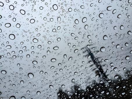 it's raining, and I