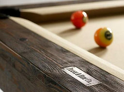 Plank and Hide Pool Table Detail