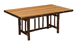 Fireside Lodge Traditional Hickory Dining Table