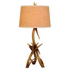 Cal Lighting Drummond Antler Table Lamp