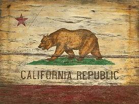 Rustic California Flag Sign