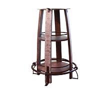 IFD Open Shelf Barrel Bistro Table