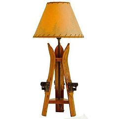 Wood Ski Table Lamp