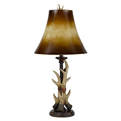 Cal Lighting Buckthorn Antler Table Lamp