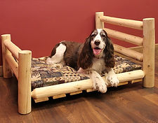 Cedar Log Pet Bed