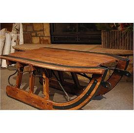 All Resort Logging Sled Cofffee Table