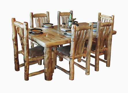 Rustic Log Furniture Inc Aspen Log Dining Set