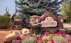 Interiors monument sign