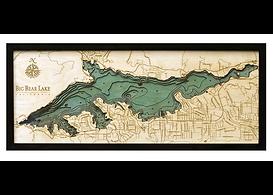 Woodchart Big Bear Lake 3D Map